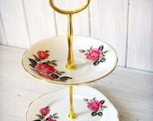 Vintage 2 Tier Cake Stand - Windsor China