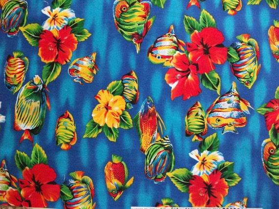 DESTASH- Bright and Tropical Cotton Fabric-HOFFMAN FABRICS