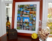 """COLLEGE TOWN of West Lafayette 16 x 20 photo print """"Home of Purdue"""""""