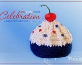Baby Cupcake Hat - Photo Prop - Newborn - Celebration Cupcake-Ready to Ship