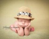 Newborn Fedora Hat-Aloha Fedora-Summer-Baby Photo Prop