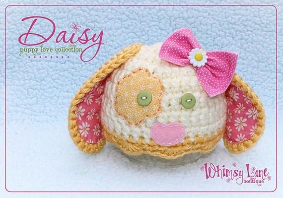 Baby Puppy Hat - Daisy Hat- Photography Prop - Newborn Girl