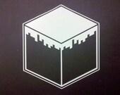 Minecraft Grass Block Vinyl Decal (Lrg)