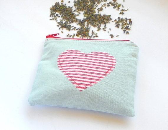 Nautical Lavender Sachet, Light Blue and Red Refillable Dryer Bag, Zippered Lavender Sachet, Mother's day gift idea