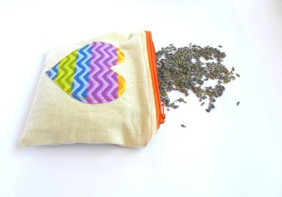 Maxi Lavender Sachet,  Beige Refillable Dryer Bag, Zippered Lavender Sachet, Mother's day gift idea