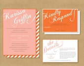 FANCY SCRIPT Wedding Invitation // Invitation and RSVP Card