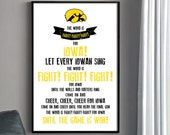 Hawkeyes Fight Song Poster - University of Iowa