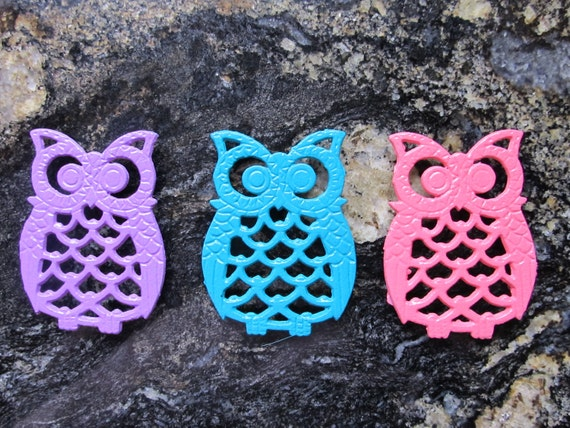 Three Owl Trivets/Coasters
