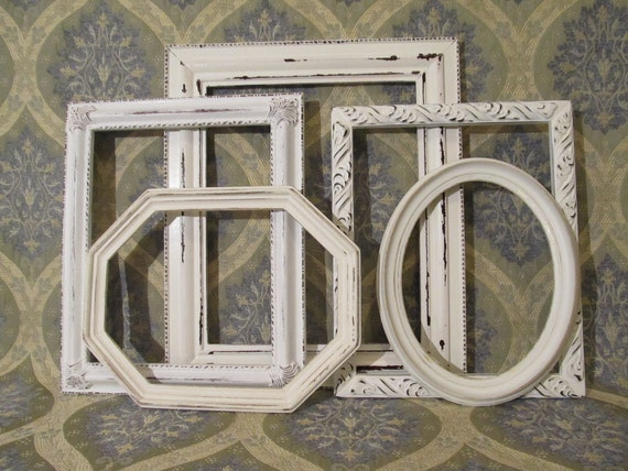 Five Ornate Shabby Chic Frames