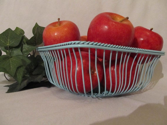 Reserve For Alisa-Shabby Chic Wire Fruit Basket