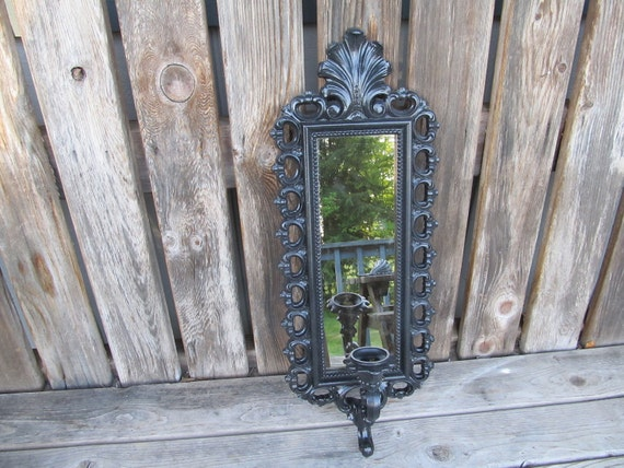 Vintage Mirror Candle Sconce