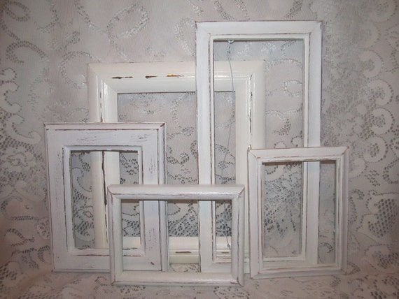 Five Ornate Shabby Chic Frames