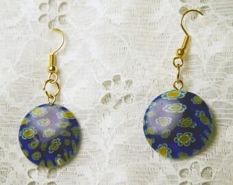 Millefiori Glass Earrings