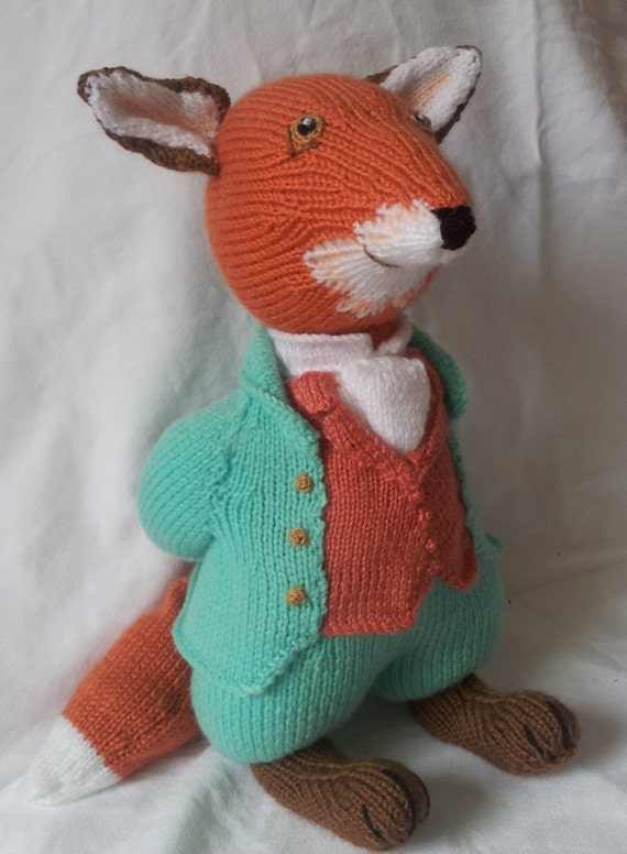 Beatrix Potter Mr Todd. Knitted toy. by KnitsfromGrandma on Etsy
