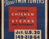 1950s artwork twin towers diner kitsch coaster 4