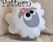 Sheep Pattern PDF -Count the Sheep Plush Pillow PDF Tutorial How to DIY epattern