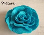 Rose Tutorial Felt Rose PDF Headband Pattern Brooch  ebook How To Rose Pattern