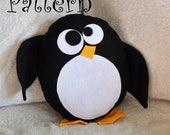 Hobble The Penguin Pattern PDF Penguin  Plush Pillow PDF Tutorial How to DIY e pattern pillows