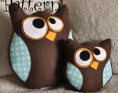 Owl Plush Pattern Set Hooter the Owl Tutorial and Printable Pattern and Bonus Lil Hoot Printable Pattern