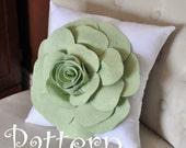 Rose Pattern Decorative Flower Pillow Pattern with Bonus Pillow Tutorial PDF ePattern How To