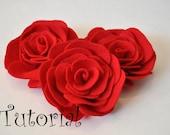 Felt Rose Pattern Felt Flower Pattern Hairclip Headband Brooch Pin Home Decor Accessory PDF ePattern eBook Tutorial How To