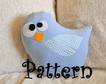 Bird Pillow PDF Tweeter the Bird Plush Pillow Tutorial Printable e pattern e book DIY