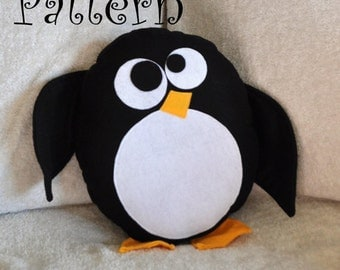 Hobble The Penguin Pattern PDF Penguin  Plush Pillow PDF Tutorial How to DIY e pattern pillows