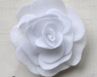 Rose Pattern Felt Flower Brooch Hairclip Headband PDF Tutorial ePattern eBook How To
