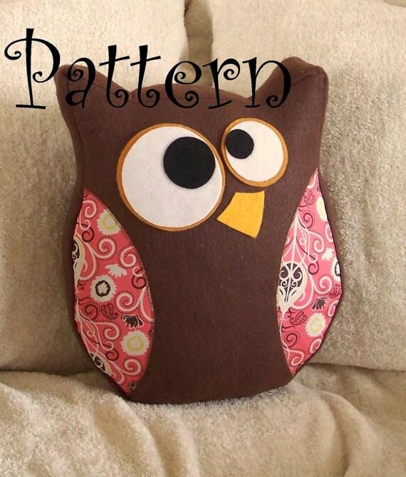 Owl Pattern PDF -Hooter the Owl  Plush Pillow PDF Tutorial How to DIY epattern Halloween