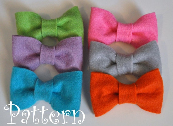 Felt Bow Tie Pattern Tutorial With Printable By