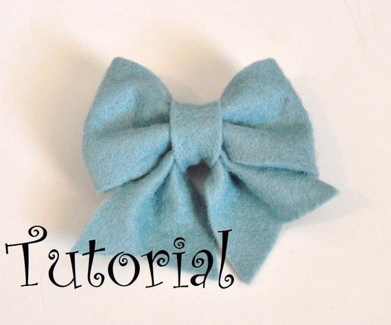 Felt bow pattern tutorial with printable templates 6 bows in 1 for Felt bow tie template