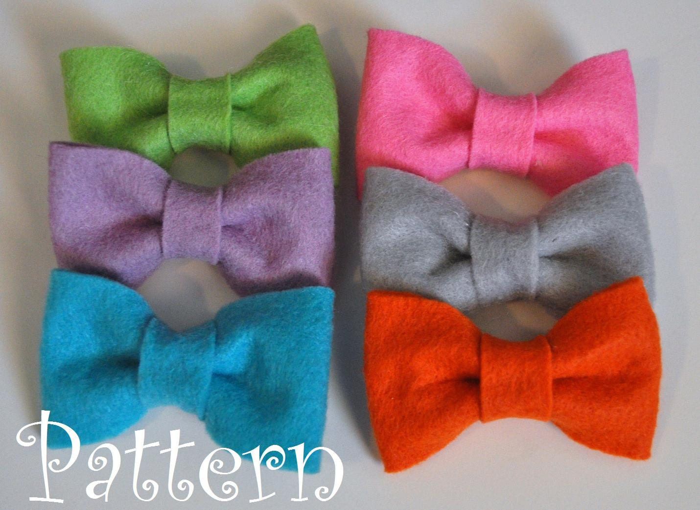 felt bow tie template - felt bow tie pattern tutorial with printable templates 3 bow
