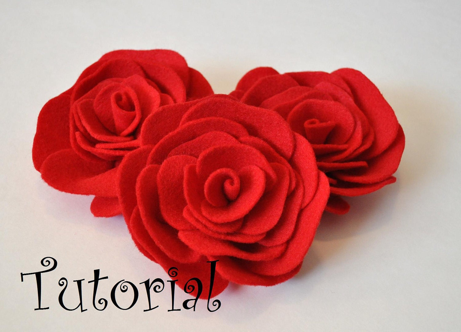 Felt Rose Pattern Felt Flower Pattern Hairclip Headband Brooch