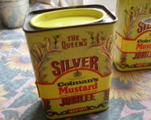 Vintage Colmans Silver Jubilee Tin