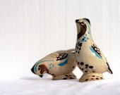 Vintage Ceramic Bird Salt & Pepper - Red Wing Bob White - 1960's