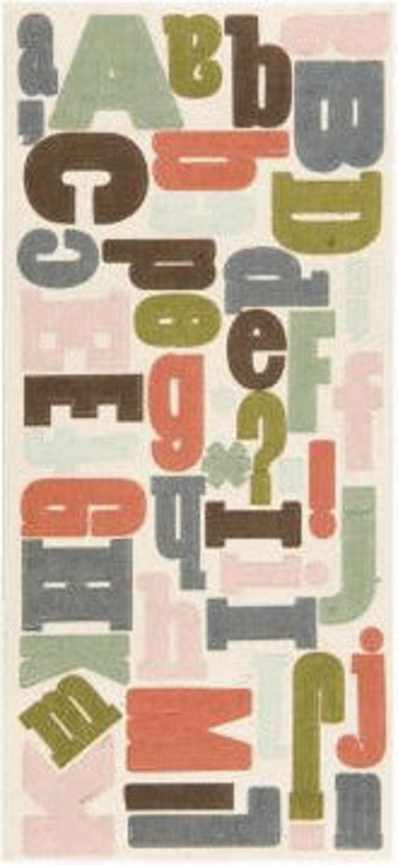 Sale - Scrapbook Supplies Canvas Alphabet Stickers