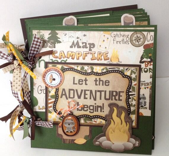 Premade Camp Scrapbook Mini Album Vacation