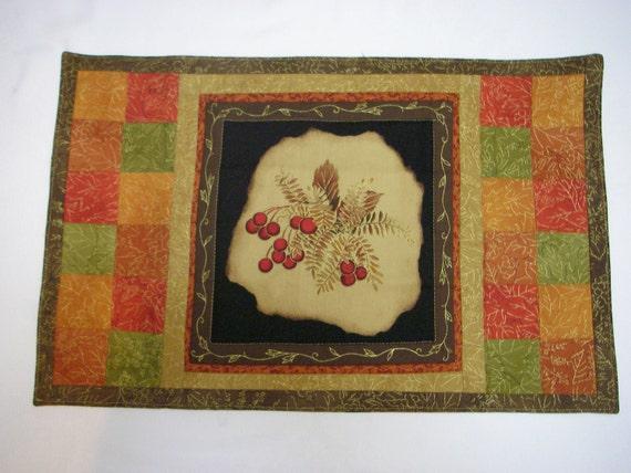 Golden fall placemat set