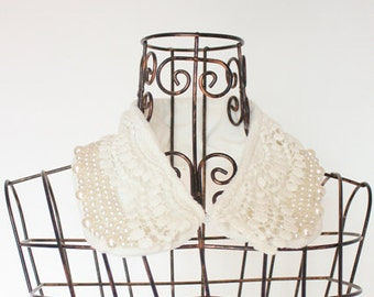 peter pan  handmade collar necklace.for winter.Upgrade design high quality custom jewelry pearls&lace