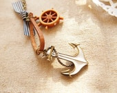 Stock Sales! Nautical Marine Necklace with Anchor