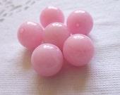 Siuc Supplies -  10mm Round Pink Jade 6pcs