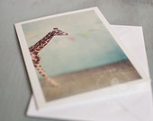 Greeting Card - Blue Giraffe