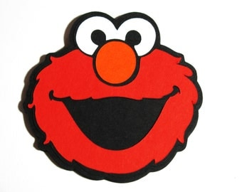 "Choose 20 pack through 25 pack - Elmo die cut 5"" -  embellishment, DIY tags/invitations/table decoration-"