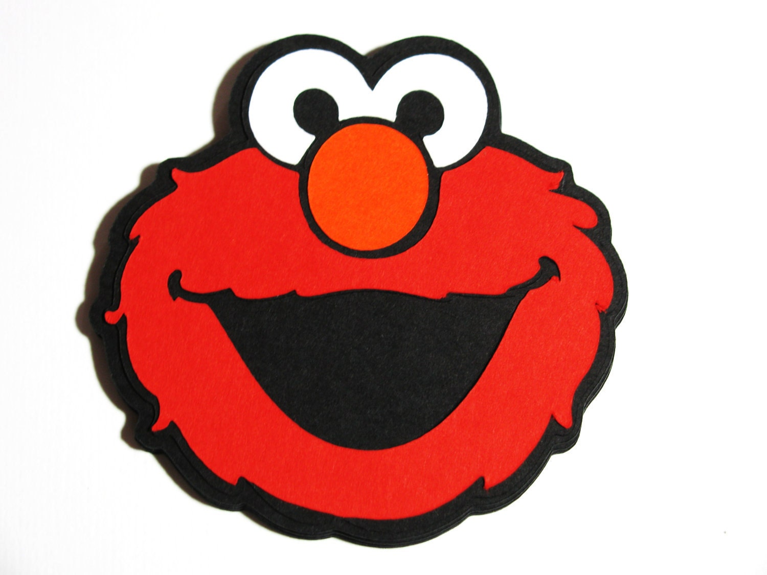 10 pack Elmo die cut 3 embellishment DIY