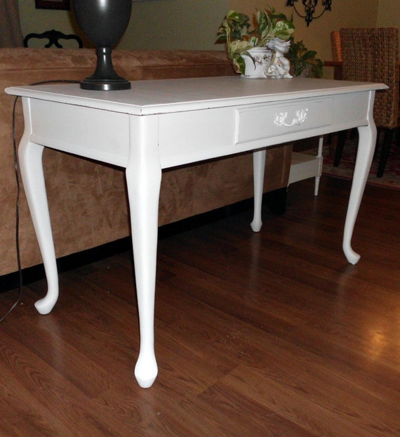 White French Country Desk Entry Hall Console Sofa Table