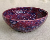 Purple and Blue Speckled Ceramic Bowl