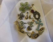ON SALE Lot of vintage charms findings crafting jewelry making