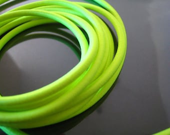 A77 - 5 Yards of 3mm Neon Yellow Round Stretch Elastic Drawcord Rope Cord