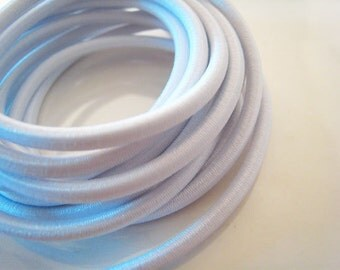 A1 - 1 Yard of 3mm Pure White Round Stretch Elastic Drawcord Rope Cord