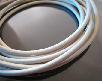 A101 - 1 Yard of 3mm Cream Round Stretch Elastic Drawcord Rope Cord